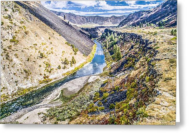 Hunting Bird Greeting Cards - South Fork Boise River Greeting Card by Randy Prescott