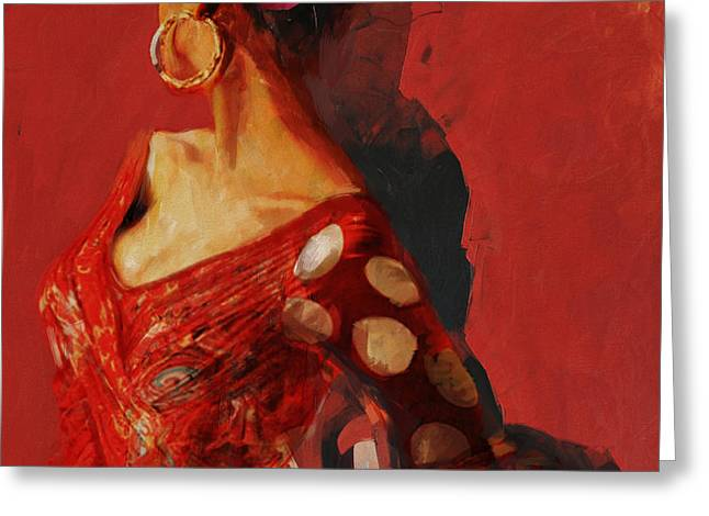 Spanish Beauties Greeting Cards - Spanish Culture 27 Greeting Card by Corporate Art Task Force