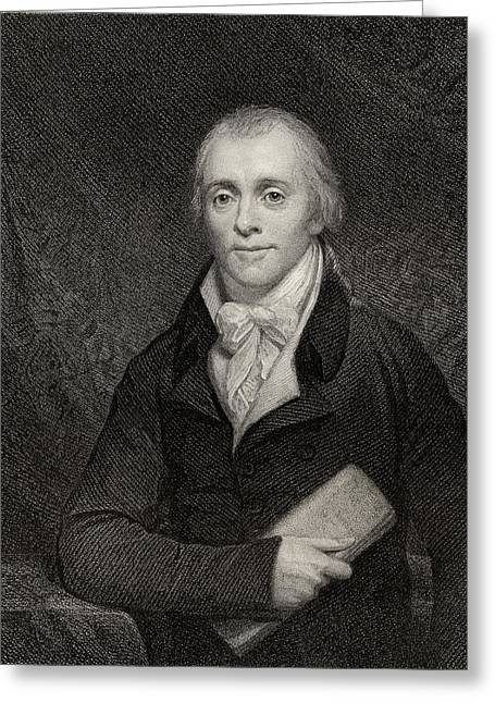 British Prime Minister Greeting Cards - Spencer Perceval, 1762-1812. British Greeting Card by Ken Welsh