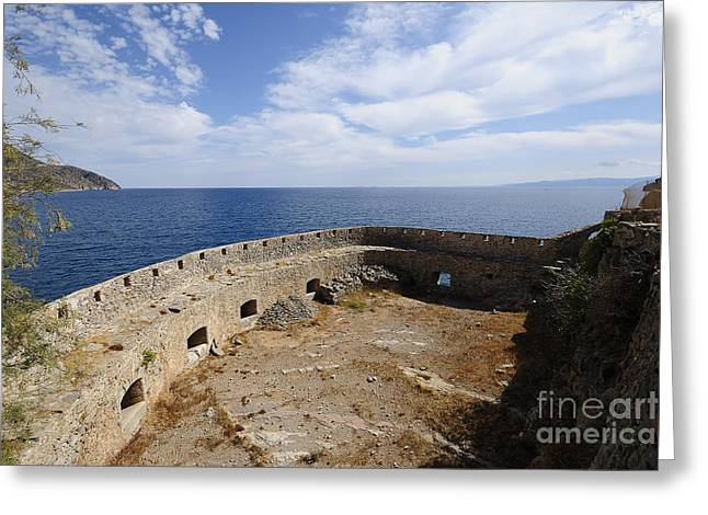 Spinalonga Greeting Card by Stephen Smith