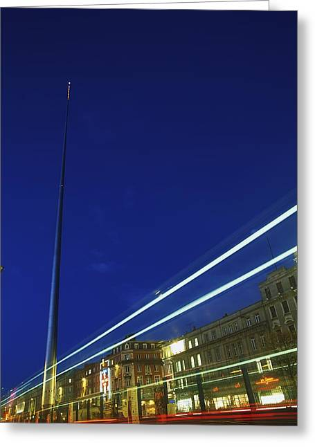 T Travel Greeting Cards - Spire Of Dublin, Oconnell Street Greeting Card by The Irish Image Collection