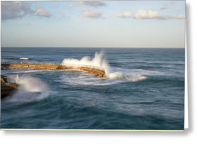 Peaceful Scene Greeting Cards - Splash Greeting Card by Joseph S Giacalone
