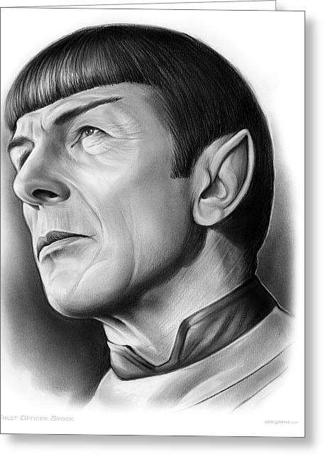 Spock Greeting Card by Greg Joens