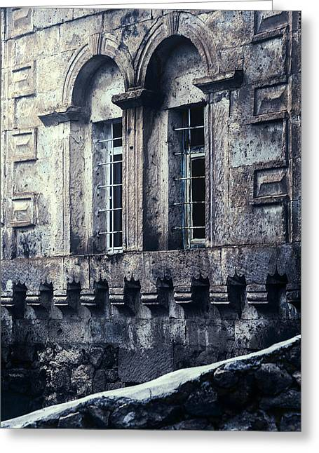 Abandoned House Greeting Cards - Spooky House Greeting Card by Joana Kruse
