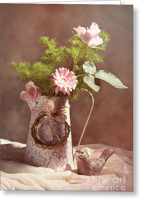 Spring Flower Arrangement Greeting Card by Amanda And Christopher Elwell