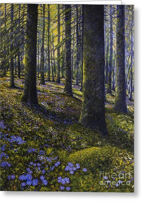Spring Forest Greeting Card by Veikko Suikkanen