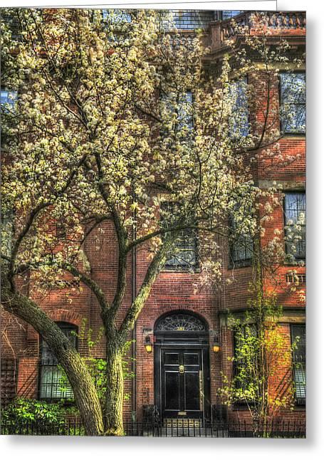 Spring Scenes Greeting Cards - Spring in Boston - Back Bay Greeting Card by Joann Vitali