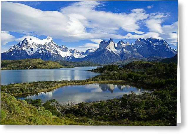 Springtime In Patagonia Greeting Card by Michele Burgess