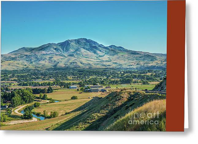 Squaw Butte Greeting Card by Robert Bales
