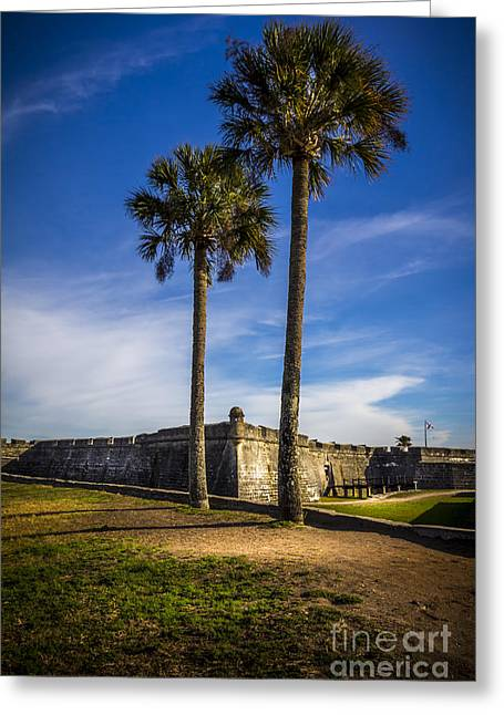 Jacksonville Greeting Cards - St. Augustine Fort Greeting Card by Marvin Spates
