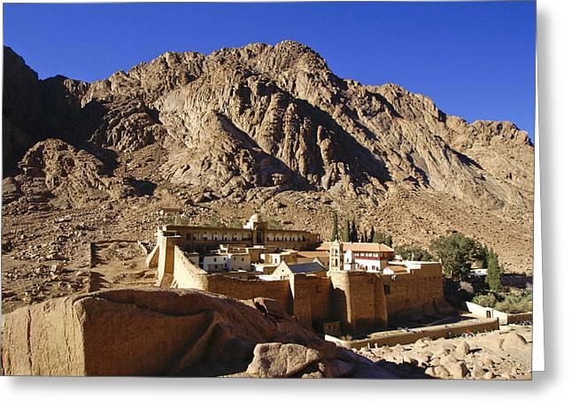 Sinai Monastery Greeting Cards - St. Catherines Monastery Greeting Card by Michele Burgess
