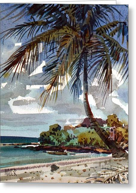 St. Croix Beach Greeting Card by Donald Maier