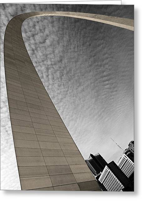 Arch Greeting Cards - St. Louis Arch Greeting Card by Ryan Heffron
