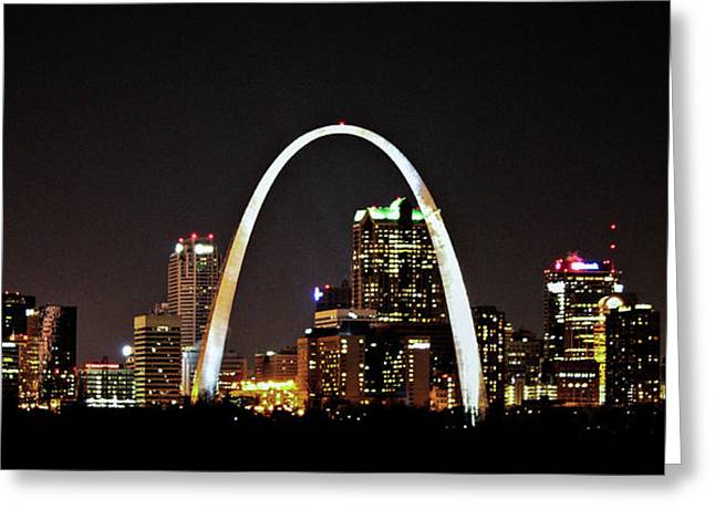 St Louis Missouri Gateway Arch Art Greeting Card by Reid Callaway