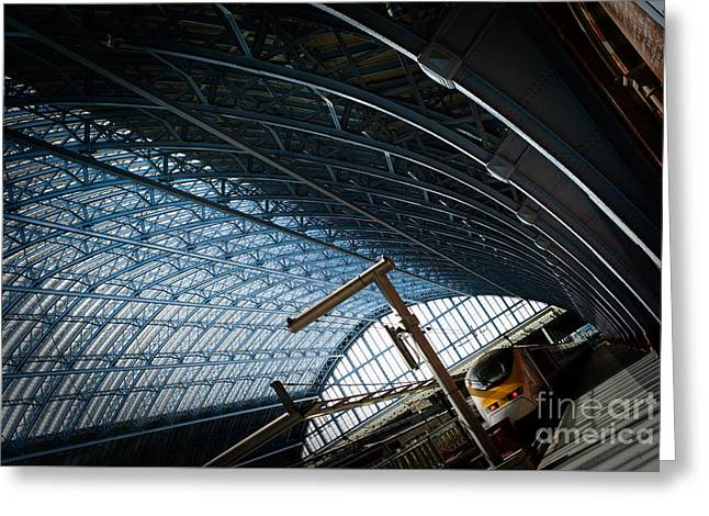 People Pyrography Greeting Cards - St. Pancras International- London. Greeting Card by Cyril Jayant