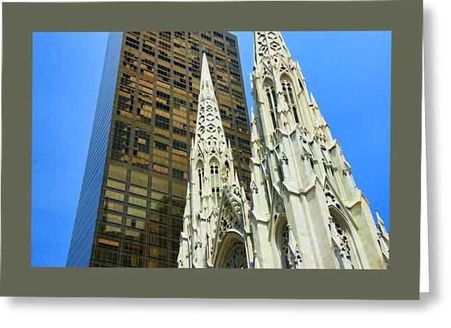 Old Digital Art Greeting Cards - St. Patricks Cathedral Greeting Card by Allen Beatty