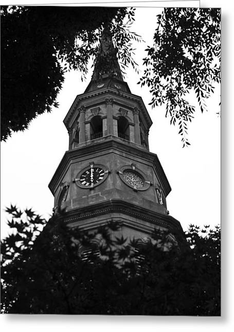 Steeples Greeting Cards - St. Philips Church Steeple Greeting Card by Dustin K Ryan