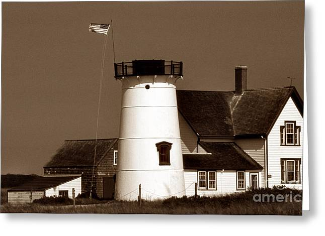 Stage Harbor Ma Greeting Card by Skip Willits