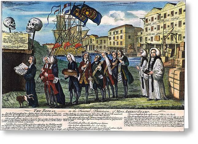 Protesters Greeting Cards - Stamp Act: Repeal, 1766 Greeting Card by Granger