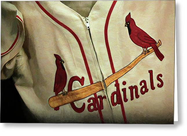 Stan Musial Greeting Card by Stephen Stookey