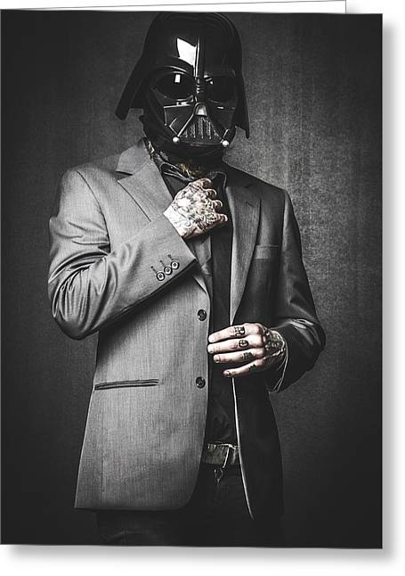 Star Wars Dressman Greeting Card by Marino Flovent