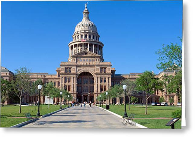 United States Capitol Dome Greeting Cards - State Capitol, Austin, Texas Greeting Card by Panoramic Images