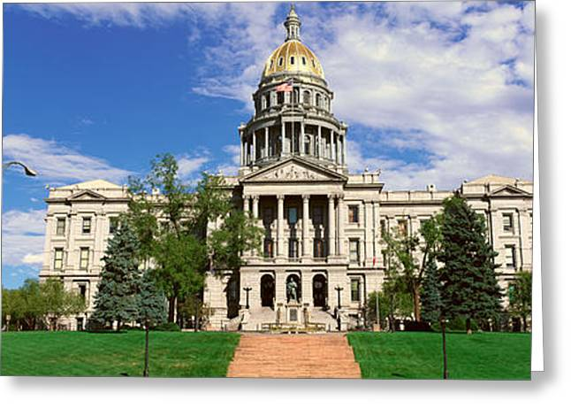 Patriotic Scenes Greeting Cards - State Capitol Of Colorado, Denver Greeting Card by Panoramic Images
