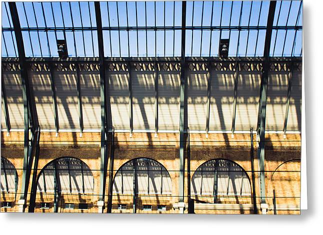 Shed Photographs Greeting Cards - Station roof Greeting Card by Tom Gowanlock