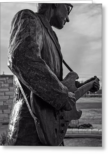Song Writer Greeting Cards - Statue of Buddy Holly Greeting Card by Mountain Dreams