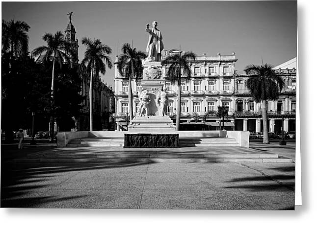 Historic Architecture Greeting Cards - Statue Of Jose Mart - Havana Greeting Card by Mountain Dreams