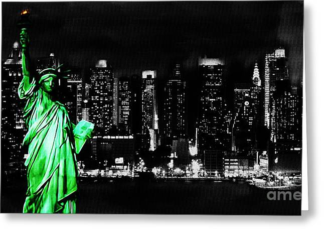 Libertas Greeting Cards - Statue of Liberty Greeting Card by Gull G
