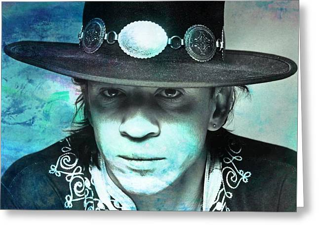 Stevie Ray Vaughan Greeting Card by John Malone