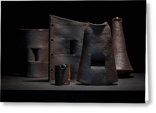 Still Life Ceramics Greeting Cards - Still Life - Ceramic Vessels Greeting Card by William Sulit