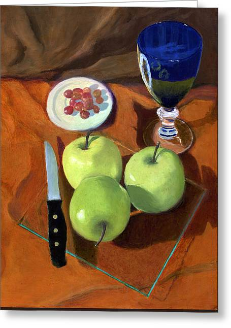 Still Life With Apples Greeting Card by Karyn Robinson