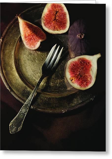 Still Life With Fresh Figs Greeting Card by Jaroslaw Blaminsky