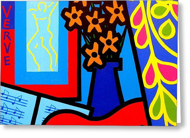 Matisse Greeting Cards - Still Life With Henri Matisses Verve Greeting Card by John  Nolan