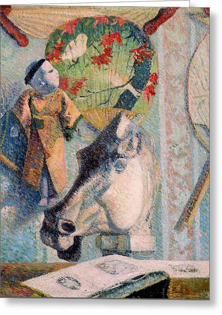 Gauguin Style Greeting Cards - Still Life with Horses Head Greeting Card by Paul Gauguin