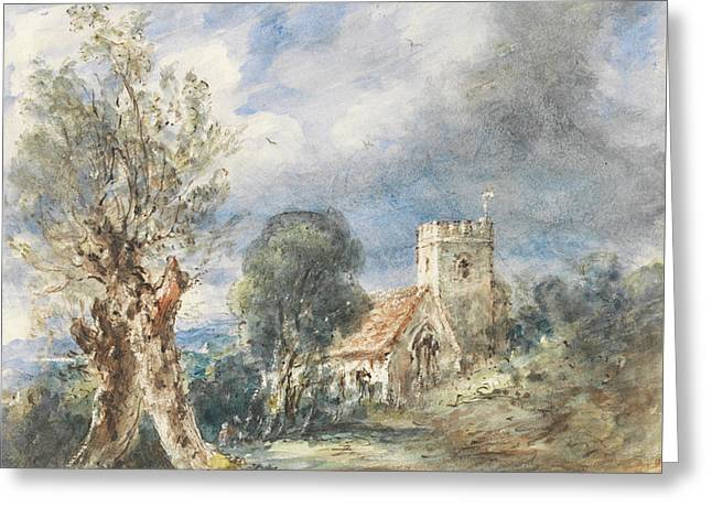 Stoke Poges Church Greeting Card by John Constable