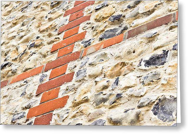 Stone And Brick Wall Greeting Card by Tom Gowanlock