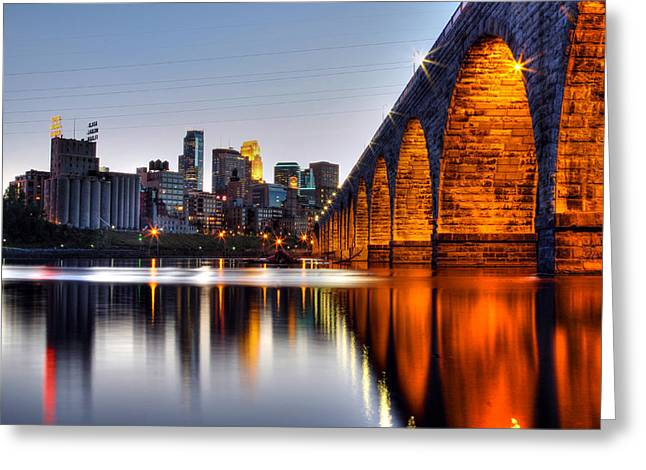 Stone Arch Sunset Greeting Card by Michael Klement
