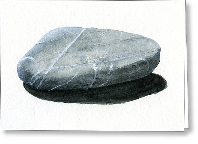 Pebbles Paintings Greeting Cards - Stone Greeting Card by Lincoln Seligman