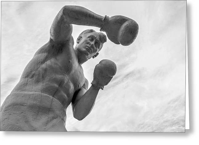 Boxer Abstract Art Greeting Cards - Stone Man Boxer  Greeting Card by John Williams