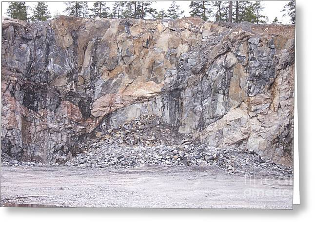 Industrial Background Greeting Cards - Stone mine Greeting Card by Daniel Ronneberg