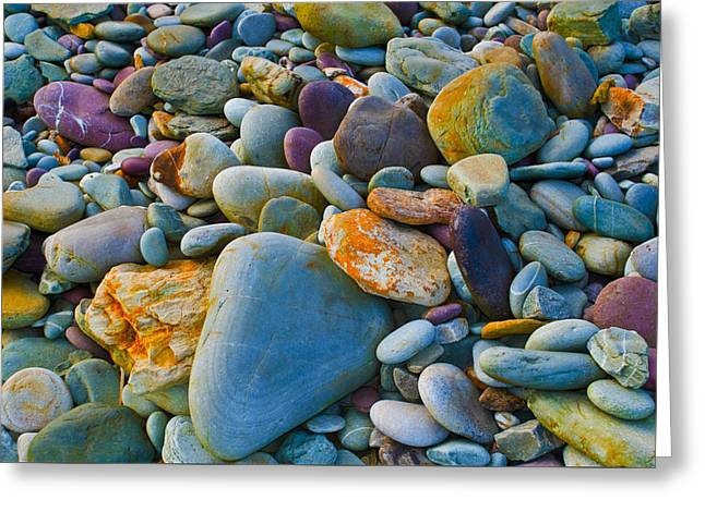 On The Beach Greeting Cards - Stones on a Beach Greeting Card by Dave Byrne
