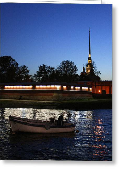 St.petersburg At Night Greeting Card by Masha Batkova