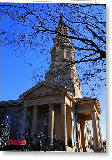 The Church Greeting Cards - St.Philips Episcopal Church in Charleston SC Greeting Card by Susanne Van Hulst