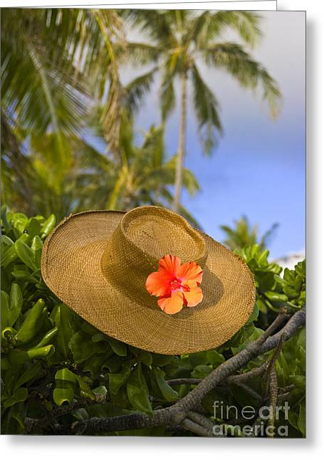 Green Hat Art Greeting Cards - Straw Hat Still Life Greeting Card by David Cornwell/First Light Pictures, Inc - Printscapes