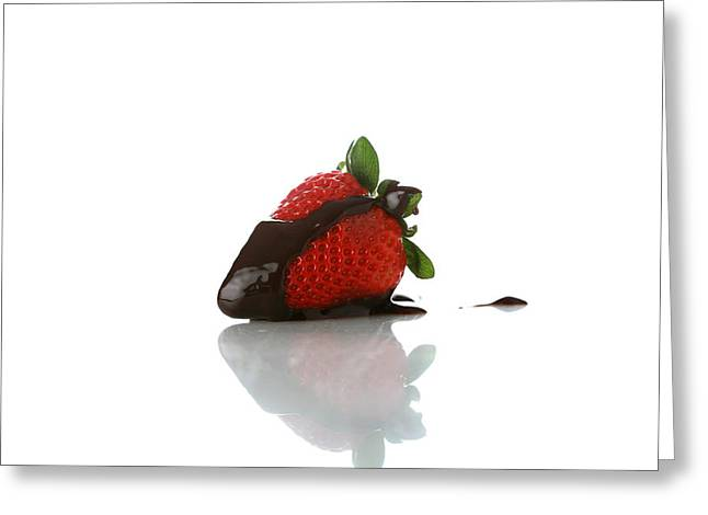 Michael Sweet Greeting Cards - Strawberry and Chocolate Greeting Card by Michael Ledray