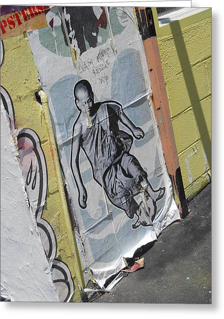 Girls Soccer Art Greeting Cards - Street art Melrose Avenue Greeting Card by Jim Ramirez