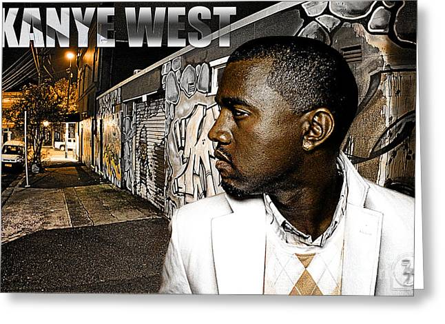 Jay Z Greeting Cards - Street Phenomenon Kanye West Greeting Card by The DigArtisT